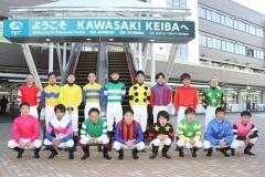200101 2020年川崎競馬初日騎手お出迎え-01