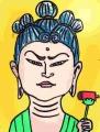 2木造五髻文殊菩薩坐像 (3)