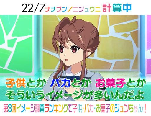 『22/7 計算中』第3回イメージ調査ランキングで子供・バカ・お菓子の戸田ジュンちゃん!