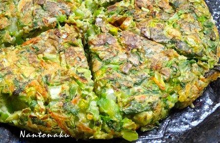 Nantonaku 5-2 晩ごはん 野菜だけのお好み焼き 3