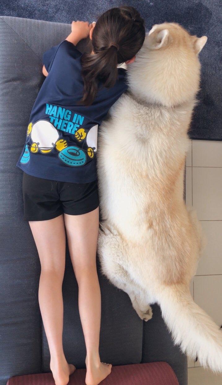 娘と犬001-2