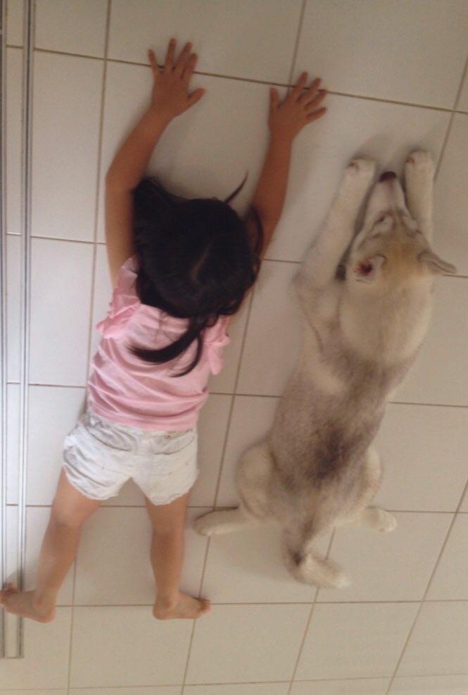 娘と犬001-1