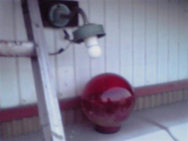 消防小屋 電球交換2