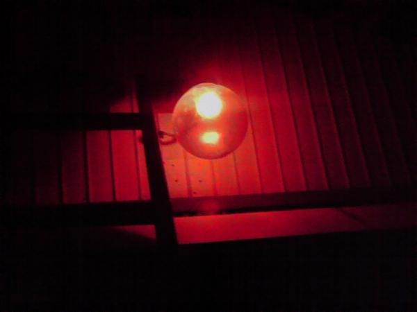 消防小屋 電球交換5