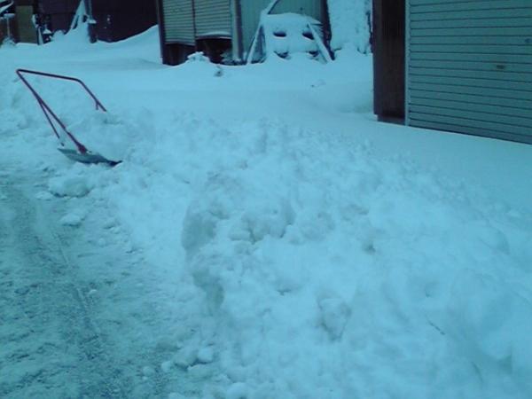 2月9日 消防団関係の除雪作業1