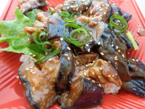 2/15 豚肉と茄子のピリ辛味噌丼