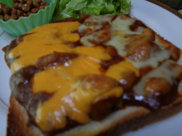 3/27 家食・ハヤシ&チースオープントースト