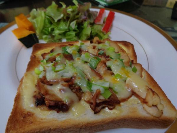 4/3 家食。チャーシューオープントースト