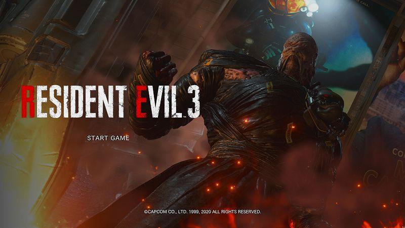Gamesplanet で Steam 版 バイオハザード RE:3(RESIDENT EVIL 3) 購入、Steam に登録(アクティベーション)、タイトル画面は RESIDENT EVIL 3 表記
