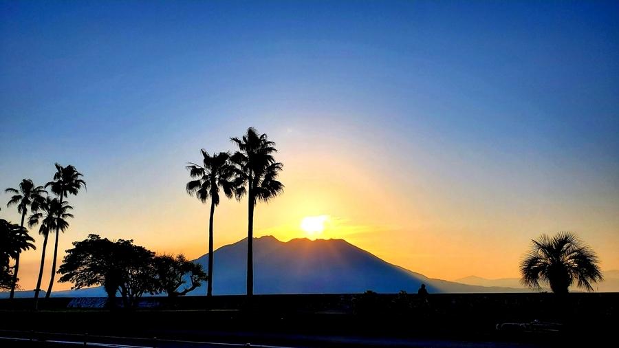 桜島夜明け2-1