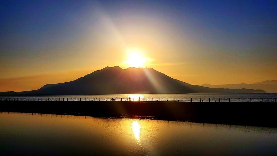 桜島夜明け2-2