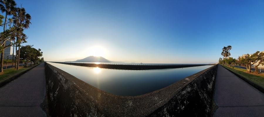 桜島夜明け2-3
