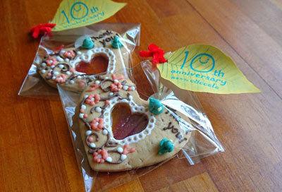 10周年記念のクッキー