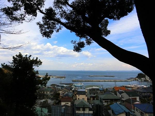 走水神社から望む相模湾