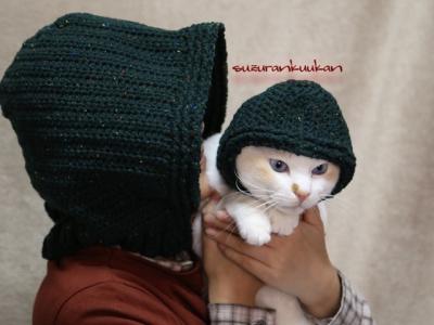お揃いフード帽着用例
