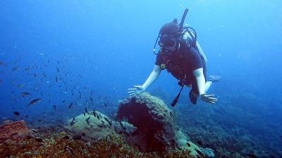 タオ島 ファンダイビング ダイビング女子