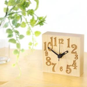 プチクロック_ササキ工芸 時計 卓上 置時計 コンパクト 木製 木の時計