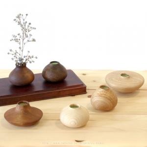 一品作 一点物 クラフト蒼 臼田健二 棚にいちりん 木製 花器 花瓶 下川町 北海道 ナチュラルインテリア