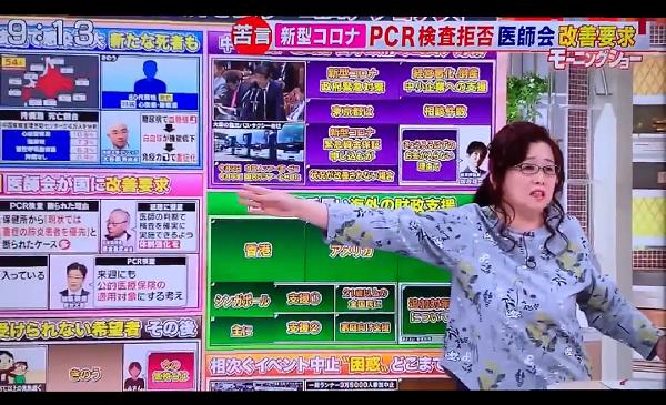 2月28日にはテロ朝『羽鳥慎一モーニングショー』で岡田晴恵は「PCR検査の数が少ない原因は縄張り争いだ!国立感染症研究所のOBがデータを独占したがっていることが背景にある」