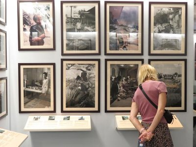 20日、韓国・JTBCによると、ベトナム戦争時の韓国軍による民間人虐殺事件の被害者が韓国の裁判所に国家賠償訴訟を提起する。写真はベトナム・ホーチミンにある戦争証跡博物館