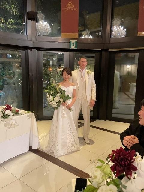 20191222米空軍中佐「靖国神社で神前結婚式をさせて頂き大変光栄でした。命をかけた方々を充分理解しました」