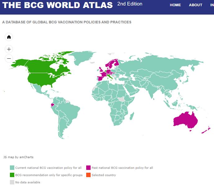 BCGワクチンの接種と武漢ウイルス(支那ウイルス=the Chinese Virus)の感染率・重症化率・死亡率に強い相関関係が認められる!