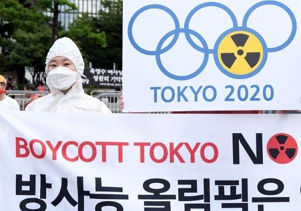 20200110韓国が放射能五輪キャンペーン!防護服聖火ランナーのポスターを全世界に配布!倍返しでやり返せ!