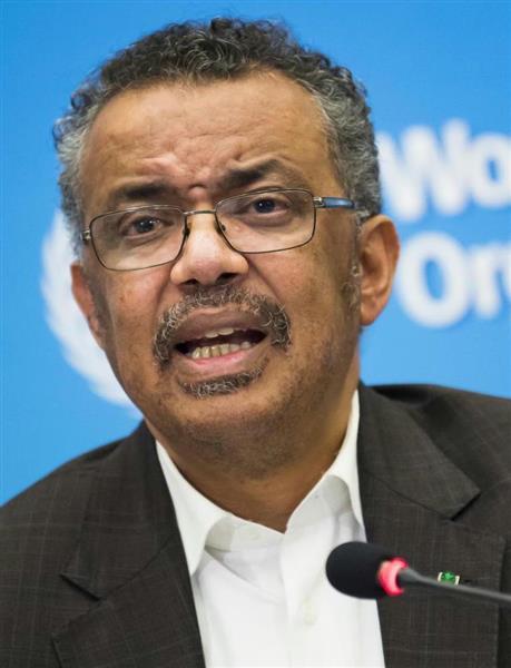 中国の影響が強いエチオピア出身のテドロスWHO事務局長(AP)