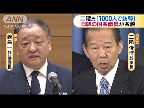 日韓の議員が会談 二階幹事長が1000人連れて訪韓へ(20/01/10)