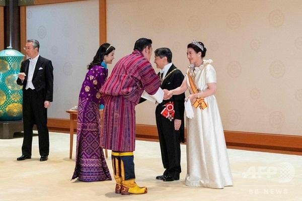 10月22日の饗宴の儀に参列されたブータン・ワンチュク国王・王妃両陛下