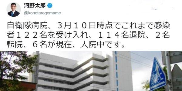 20200316自衛隊病院が武漢ウイルス感染者を122名収容し114名退院!医療関係者二次感染ゼロ!報道無し