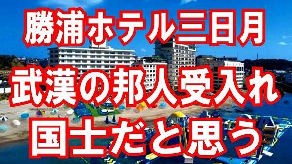 【勝浦ホテル三日月】は国士だと思う!だから全力応援したい。