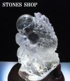 水晶龍彫り物1