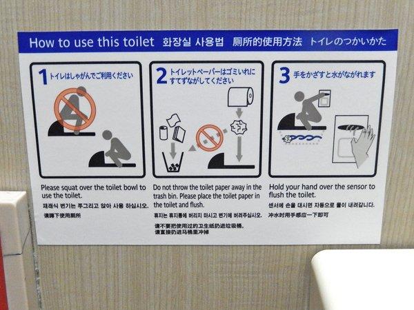 トイレのつかいかたピクトさん