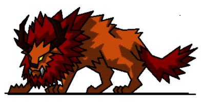 峡谷の赤獅子