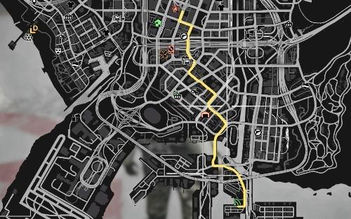 ②マップで場所が表示される