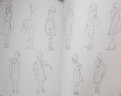 女子中高学生のイラストブック (14)