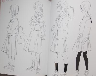 女子中高学生のイラストブック (15)