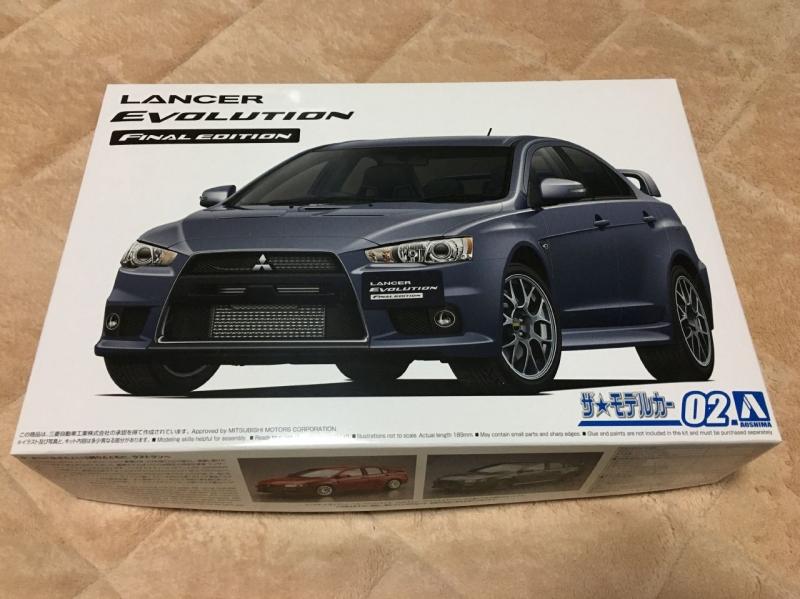 アオシマ モデルカー ランエボX ファイナル