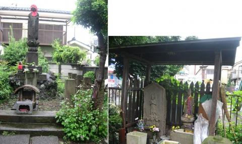 練馬区石神井、富士街道沿いの青面金剛など(索引記事用)連結