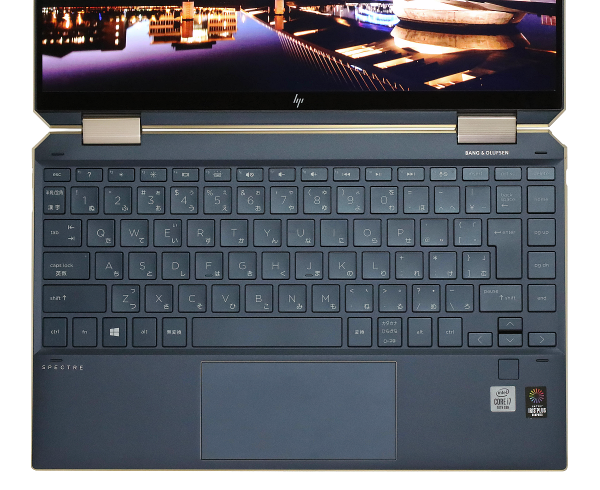 1200_HP Spectre x360 13-aw0000_ポセイドンブルー_キーボード_0G1A5807