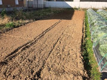 畝作り4畝マルチ張り5