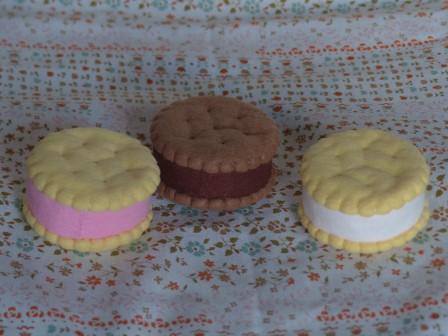 フェルト手芸 アイスキャンディー クッキーアイス 1