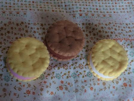 フェルト手芸 アイスキャンディー クッキーアイス 2