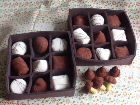 フェルト・チョコレート 1セット 1