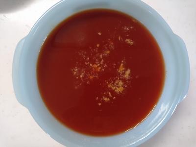 トマトジュースのオートミール