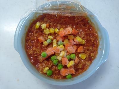 トマトジュースのオートミール粥