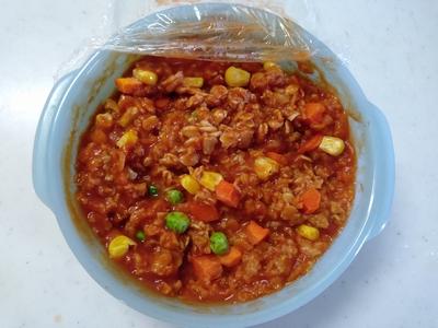 トマトジュースのオートミール粥1