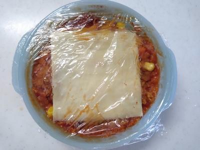 トマトジュースのオートミール粥3