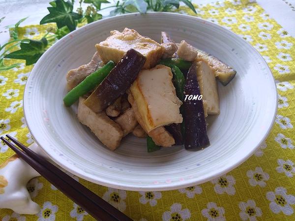 群馬県産なすと豚肉の味噌生姜炒め